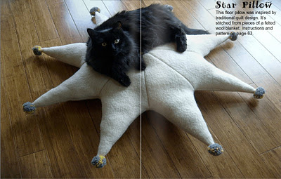 Star pillow spread